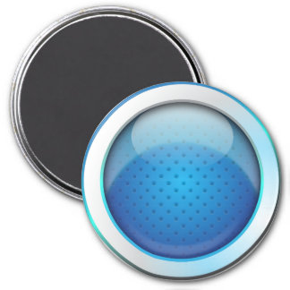 Magnet ball glossy blue