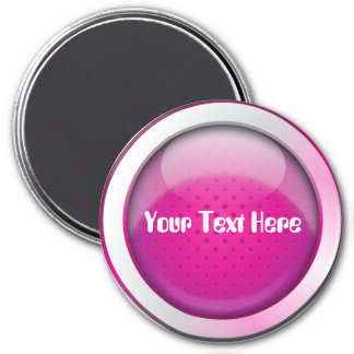Magnet ball glossy pink