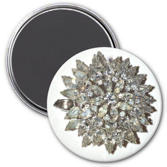 Magnet Bling Rockabilly Starburst Vintage Brooch