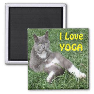 Magnet Cat I Love Yoga
