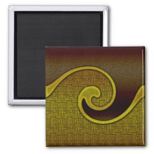Magnet Dark Brown Swirl Gold, Matching Set