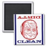 Magnet Dishwasher Man Clean Dirty optical illusion