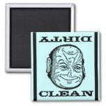 Magnet Dishwasher Man Morph Clean Dirty o illusion