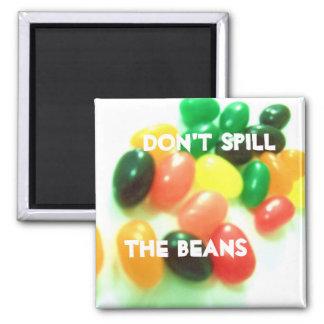 magnet, Don't Spill, The Beans Square Magnet
