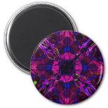 Magnet - Fractal Pattern Purple Blue Pink