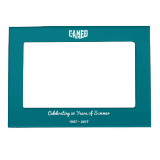 Magnet Frame with White Cameo Logo
