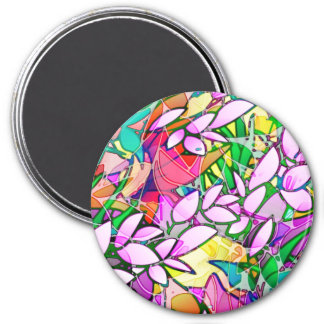 Magnet Grunge Art Floral Abstract