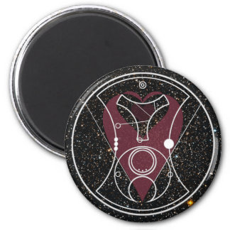"""Magnet: """"Hello, Sweetie!"""" Hearts and Stars 6 Cm Round Magnet"""