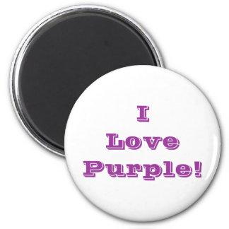 Magnet I Love Purple