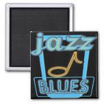 Magnet-Jazz Blues Music- Square Magnet