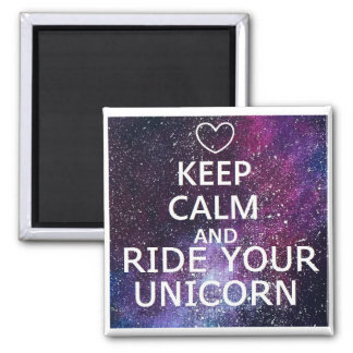"""MAGNET """"KEEP CALM AND WRINKLES YOUR UNICORN"""""""
