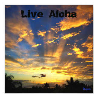 Magnet, Live Aloha, Sunset, Maui Magnetic Card