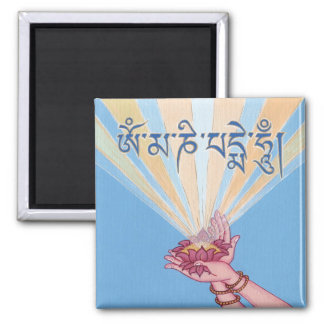 MAGNET Lotus with mantra OM MANI PADME HUM