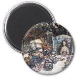 Magnet: Mad Hatter Tea Party - by Rackham 6 Cm Round Magnet