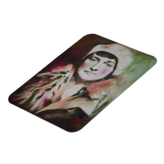 Magnet, 'Maria' by Jennifer Baumeister Rectangular Photo Magnet