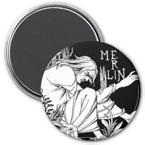 Magnet : Merlin -  by Aubrey Beardsley