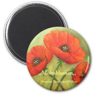 Magnet Mohnblumen Kühlschrankmagnet