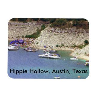Magnet of Hippie Hollow, Austin Texas