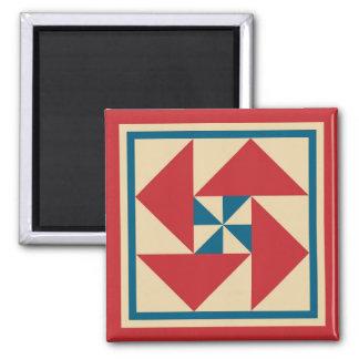Magnet - Patriotic Spin Quilt Square