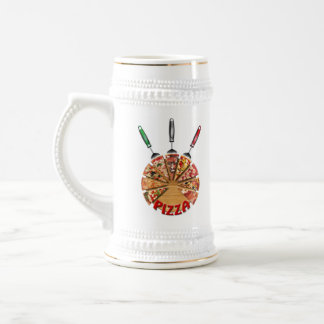 Magnet Pizza on the cutting board Beer Steins