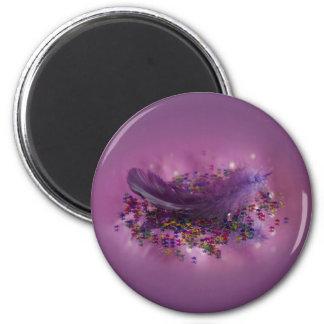 Magnet - Purple Fairys Feather