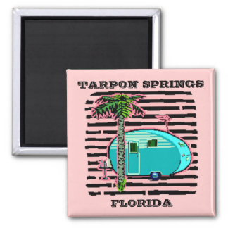 MAGNET- RETRO CAMPING IN CANNED-HAM STYLE TRAILER! MAGNET