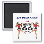 "Magnet ~ RETRO ""KICKS"" GALS Get Yours on Route 66"