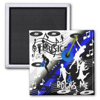 Magnet Retro Rock 'N' Roll Music Rocks Me