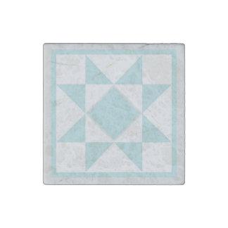 Magnet - Sawtooth Star Quilt Block (lt. blue/grey)