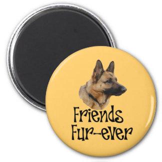 "Magnet Schäferhun ""Friend Fur more ever """