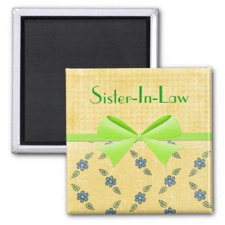 Magnet-Sister-In-Law- Green Ribbon Magnet