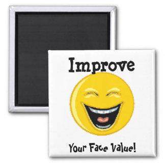Magnet, Smiley Face Square Magnet