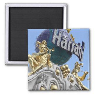 Magnet, square, Las Vegas, Harrah's Square Magnet