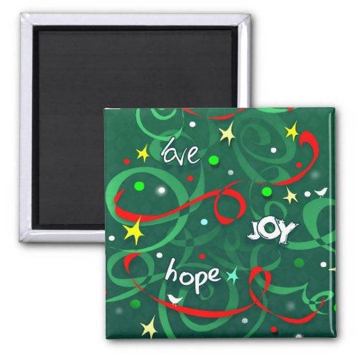 Magnet Square - Love Hope Joy Christmas