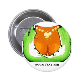 Magnet St Patrick' S Day - Draw Girl Chest 6 Cm Round Badge