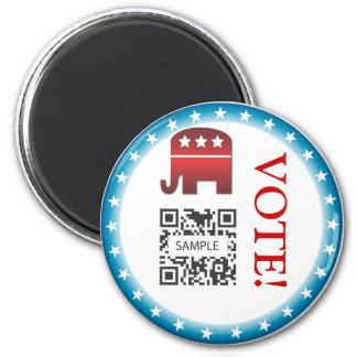 Magnet Template Republican Elephant