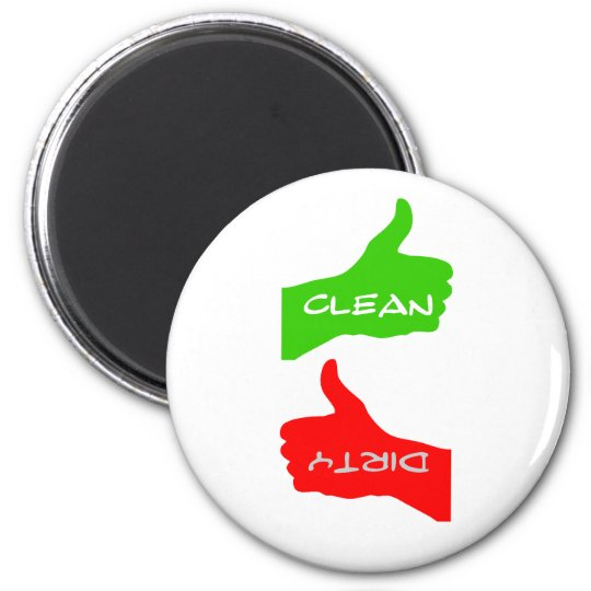 Magnet- Thumbs Up/Down Clean/Dirty Dishes- Colour Magnet