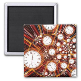 Magnet: Time Flies Square Magnet