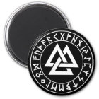 magnet Tri-Triangle Rune Shield on Blk