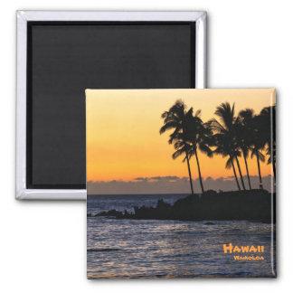 Magnet: Twilight At Waikoloa Square Magnet