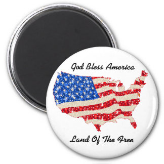 Magnet USA Flag God Bless America