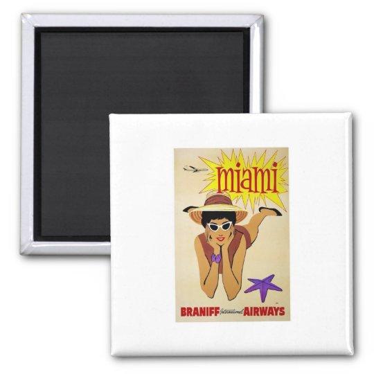 Magnet-Vintage Miami Advertisement Magnet
