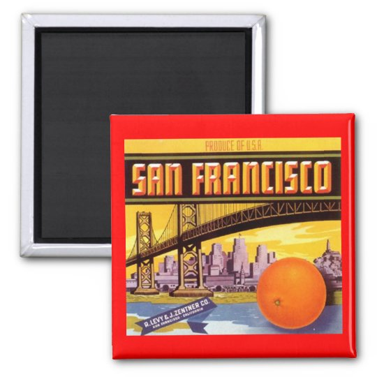 MAGNET VINTAGE SAN FRANCISCO ADVERTISING LABEL CA
