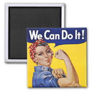Magnet: We Can Do It  - Vintage Poster Image Magnet