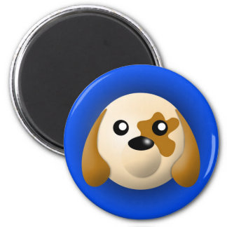 magnet with animal: dog