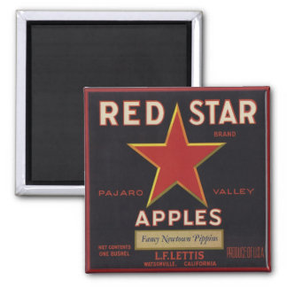 Magnet with Cool Vintage Fruit Crate Label Print