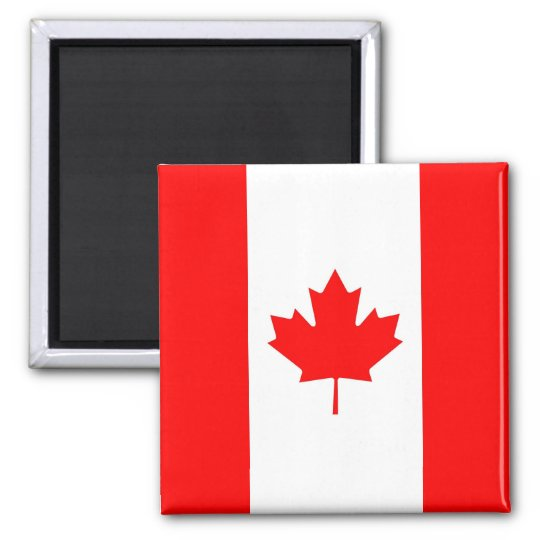 Magnet with Flag of Canada