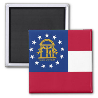 Magnet with Flag of  Georgia State - USA