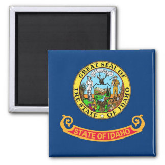 Magnet with Flag of  Idaho State - USA
