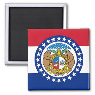 Magnet with Flag of Missouri State - USA